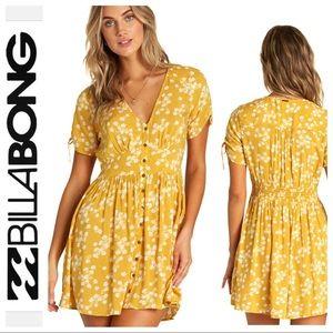 BRAND NEW BILLABONG Twirl Twist Floral Print DRESS